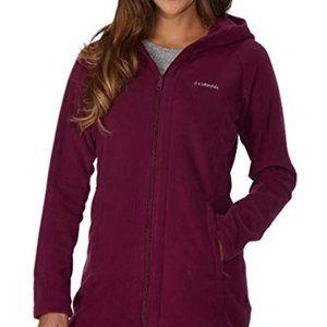 Columbia Fleece Long Zip Up Hoodie Jacket